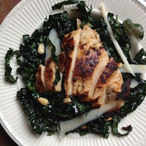 Chopped Kale Salad with Grilled Chicken